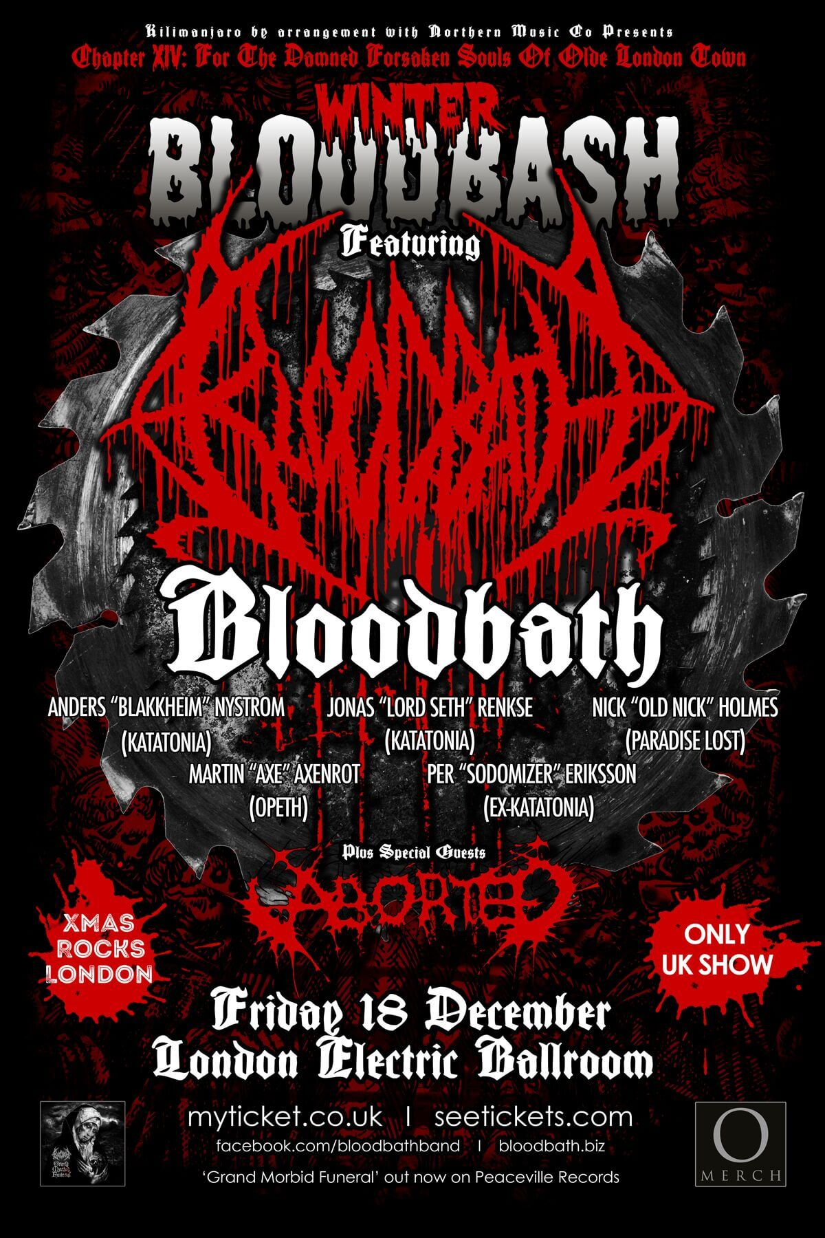 With Bloodbath's one off 'Winter Bloodbash' London show on 18th December at the Electric Ballroom just around the corner and in the spirit of Christmas the ...