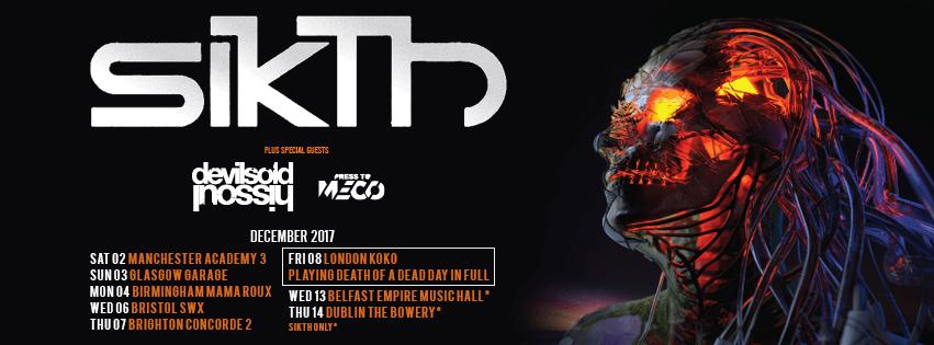 SikTh UK tour 2017 update Nov banner