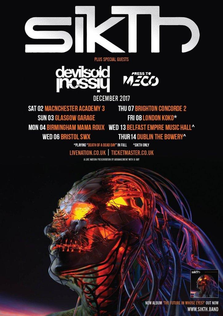 UK Ireland December 2017 tour poster