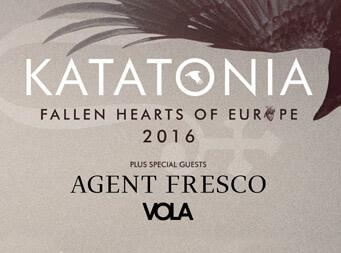 Katatonia announce Agent Fresco & Vola are set to join them on tour