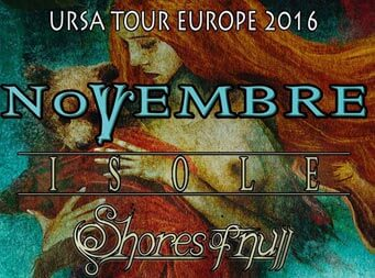 Novembre announce European headline shows in September