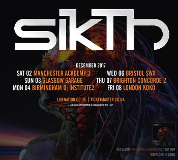 SikTh announce UK headline tour for December 2017