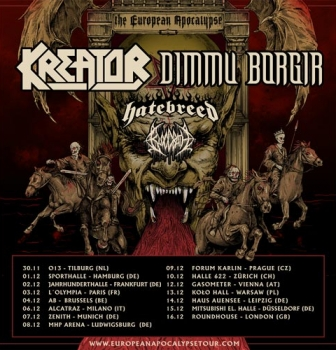 Bloodbath announce The European Apocalypse Tour with Kreator, Dimmu Borgir & Hatebreed