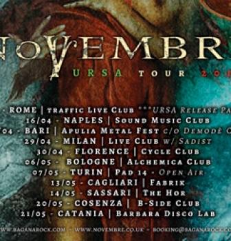 Novembre announce Italian 'Ursa' tour