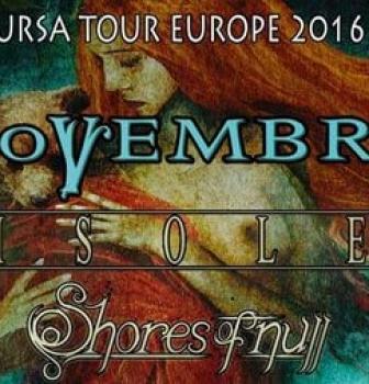Novembre announce European headline shows in September