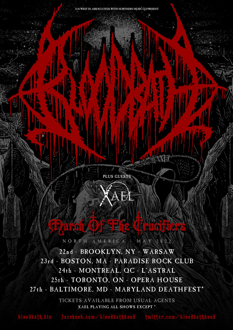 BLOODBATH: North America March Of The Crucifiers Tour rescheduled for May 2022