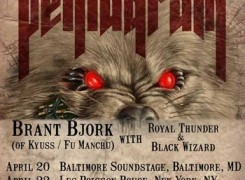 Pentagram confirm US shows with Brant Bjork, Royal Thunder & Black Wizard in April
