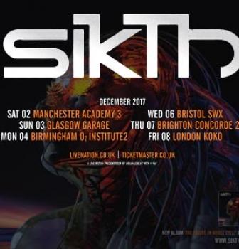 SikTh announce UK headline tour for December 2017
